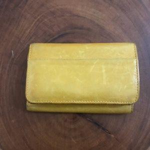 Hobo Mustard Yellow Small Wallet